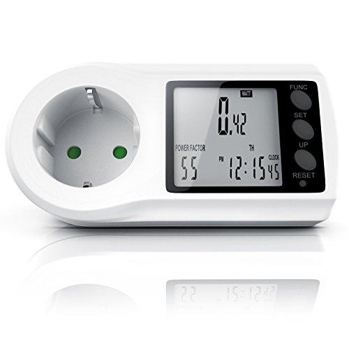 Energiekostenmessgerät - Stromkostenmessgerät - Stromverbrauchszähler - Standby-Verbrauchsmessung ab 0,2W - Multifunction Energy Power Meter - LCD Display