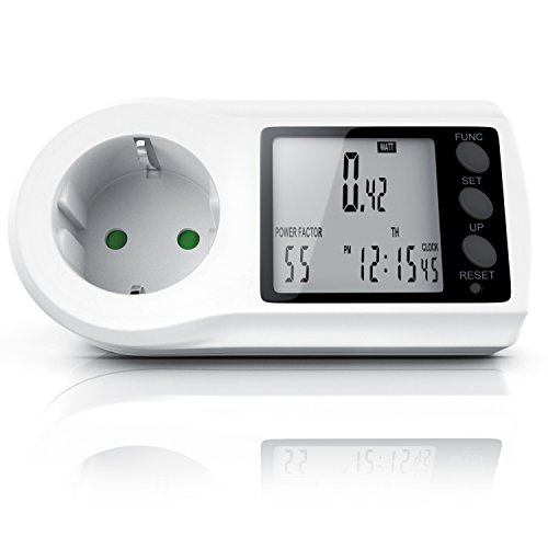 Energiekostenmessgerät - Stromkostenmessgerät - Stromverbrauchszähler - Standby Verbrauchsmessung ab 0,2W - Multifunction Energy Power Meter - LCD Display