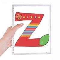 zのアルファベットのオレンジ色の果物は、かわいいパターン 硬質プラスチックルーズリーフノートノート