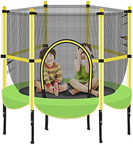 Trampolin Mit Sicherheitsauflage FüR Das Indoor-Gartentraining Cardio-Training 140 cm (55 Zoll), Maximale Belastung 300 Lbs Anna