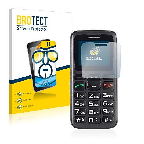 BROTECT Schutzfolie kompatibel mit Simvalley Mobile XL-915 V3 (2 Stück) klare Bildschirmschutz-Folie