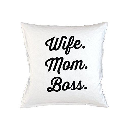 Wife Mom Boss Schlafsofa Home Décor Kissen Kissenbezug Fall Weiß