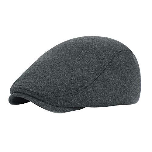 ReooLy Baskenmütze Baumwolle schwarz grau Fischgrätenmuster Junge Bäcker Junge Tweed Flache Mütze Männer Gats Hut Mütze
