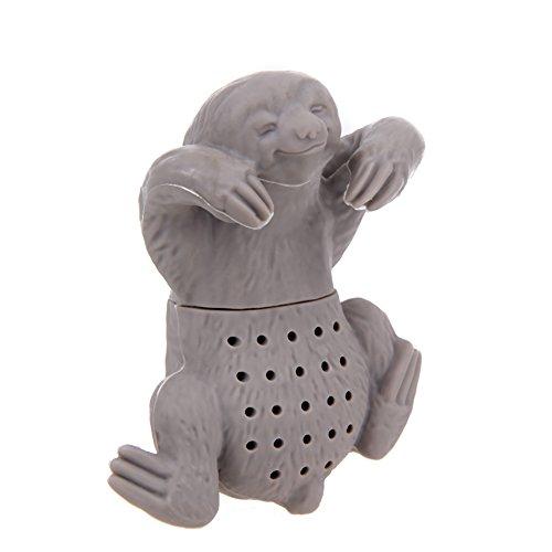 Kopper-24 Tamis à thé in verschiedenen Designs créatifs – paresseux, chat, hippopotame et autres – Set Idée cadeau – Un must pour tous les amateurs de thé. Faultier