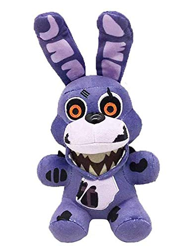 FNAF Plushies - All Characters(7') - -- Five Nights Freddy's Plush: Chica, Springtrap, Bonnie, Marionette, Foxy Plush - Freddy Plush-FNAF Plush-Kid's Toy-Stuffed Animal (Twisted Ones Bonnie)