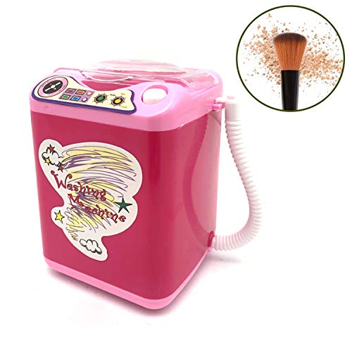 Kostoo - Limpiador de brochas de maquillaje eléctrico con forma de lavadora, limpiador de brochas de maquillaje, seca en profundidad y recupera la forma automáticamente.