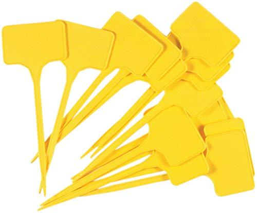 Connex Sunflower FLOR78750 Targhette per Piante, Giallo, Altezza: 150 mm, Area di etichettatura: 55 x 35 mm, 15 unità