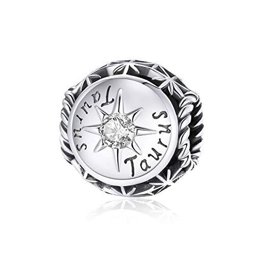Abalorio de plata de ley 925 con piedra natal para pulseras y pulseras originales de plata de ley 925 para familiares y amigos