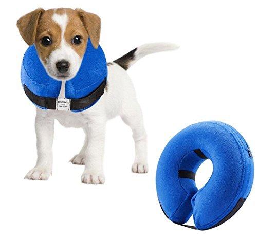 Emwel aufblasbares Halsband für Klein Hunde und Katzen, Aufblasbare Halskrause, Bequemer Haustier-Kragen für Genesung, aufblasbares einfaches Hunde-Halsband,...