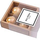 Chilly, Geschenkschachteln mit Sichtfenster für hausgemachte Kekse / Plätzchen / Muffins / Brownies, dekorativ 4 Lattices