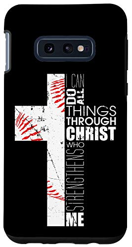 Galaxy S10e Baseball Phone Cases Teen Boys Coaches Christian Cross Gifts Case