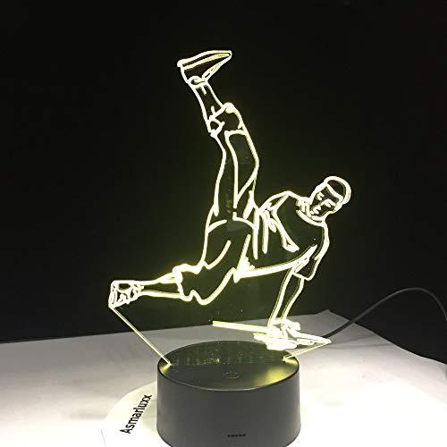 Street Dance Disco HipHop Kultur Breaking Locking Popping Nachtlicht 3D LED Tischlampe Kinder Geburtstagsgeschenk Nachtzimmer Dekoration