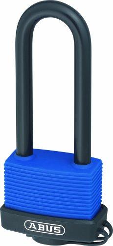 ABUS KG 50676 70IB/50HB80 80mm roestvrij staal lange beugel messing hangslot met 6401 Alike Keyed, 50 mm