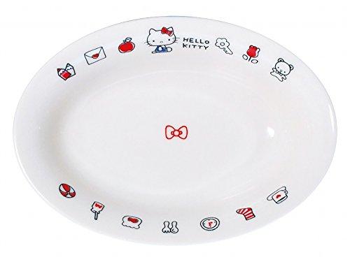 サンリオ(SANRIO) 「 Hello Kitty(ハローキティ) 」 キティ エブリデイ カレー皿 18cm 白 311114