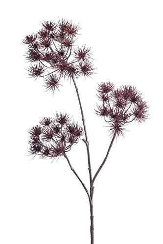 artplants.de Set 6 x Kunstpflanze Bärenklau BELMIRO, Burgunderrot, 100cm - Kunst Herkulesstaude - Deko Heracleum