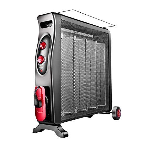 ZBJJ Calentador eléctrico, Calentador eléctrico La película calefactora es energéticamente eficiente, con suspensión Desmontable, protección contra sobrecalentamiento 2000W Negro