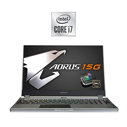 AORUS 15G (WB) Performance Gaming Laptop 15.6-inch FHD 240Hz IPS, GeForce RTX 2070 Max-Q, 10th Gen Intel i7-10750H, w/ Mechanical Keys, 16GB DDR4, 512GB NVMe SSD (AORUS 15G WB-7US2130MH)