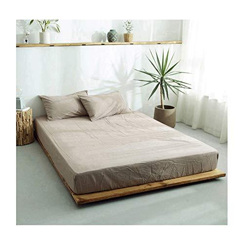 MZP Sábana Bajera Ajustable elástica 100% algodón ultrasuave para una Cama 120/150/180cm Double Fitted Bed Sheets Profundidad 25cm (Color : Coffee, Size : 150×200cm)
