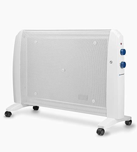 Blaupunkt BP1007 - Radiador De Mica 2000w con 2 Niveles De Potencia: 1000w - 2000w. Interruptor Antivuelco, Termostato Regulable De Temperatura Ambiente y Protección contra Sobrecalentamiento.
