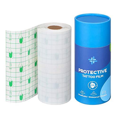 Solong Tattoo Bandage Roll Film Wasserdichte Transparente Filmrolle - Tattoo Folie Heilung Verband Tattoo Supplies (10m)TA618