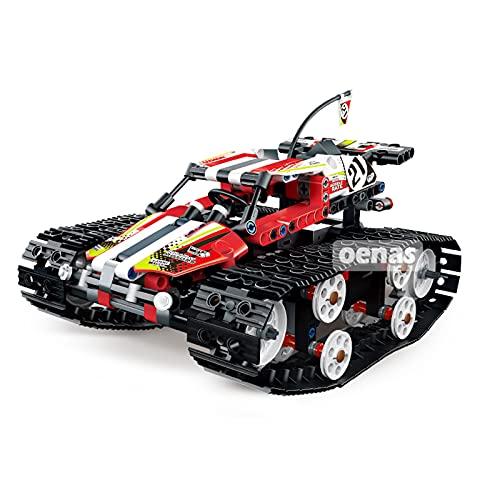WANZPITS Technic Remote Control 13023 Vehículo De Alta Velocidad Rastreado Bloque De Construcción Kit De Modelo De Ensamblaje De Juguete SUV Flame King Arquitectura Educación Navidad, Rojo