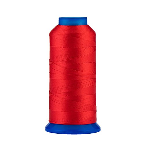 Selric [1500Yards / 30 Colors Available] UV Resistant High Strength Polyester Thread #69 T70 Size 210D/3 for Upholstery, Outdoor Market, Drapery, Beading, Purses, Leather (Red)