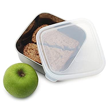 U-Konserve - To-Go Container, Stainless Steel, Ideal for Lunches, Picnics and Travel, Dishwasher Safe (Medium, Stainless/Clear)