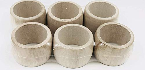 Untreated Wood Napkin Rings Made In Jura Set of 6