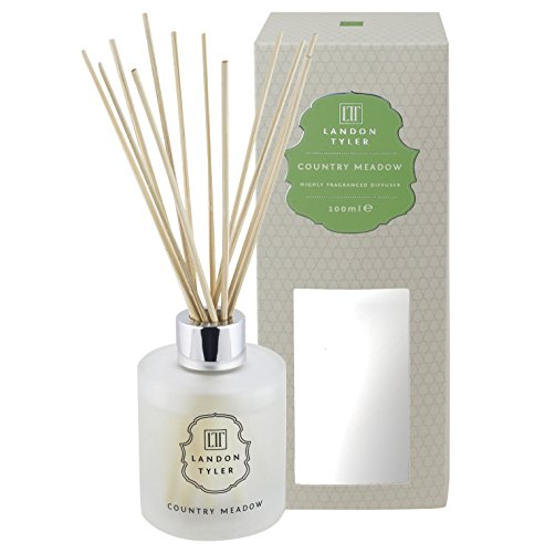 Landon Tyler Country Meadow   Scented Oil Reed Diffuser Set With Fragrance Notes of Jasmine & Rose   Home Diffusers for Bedroom Living Room Office Bathroom & for Stress Relief   100ml