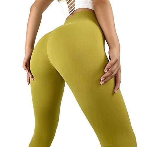 TXXT Pantalones de Yoga Gimnasia Leggings Deporte Mujeres Fitness, Pantalones de Yoga Spandex High Cintura Agachada Probar Control Partida Butt Lift Sexy Entrenamiento Transporte Polainas