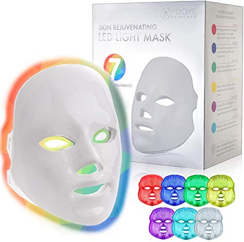 YOOVE LED Face Mask 7 Colors Including Red Light Therapy for Healthy Skin Rejuvenation Home product image