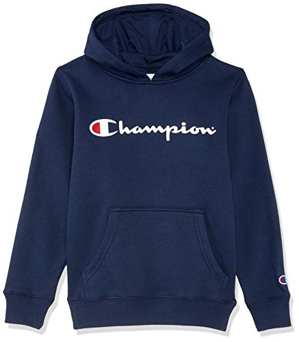 Champion Kids Script Hoodie, Navy,