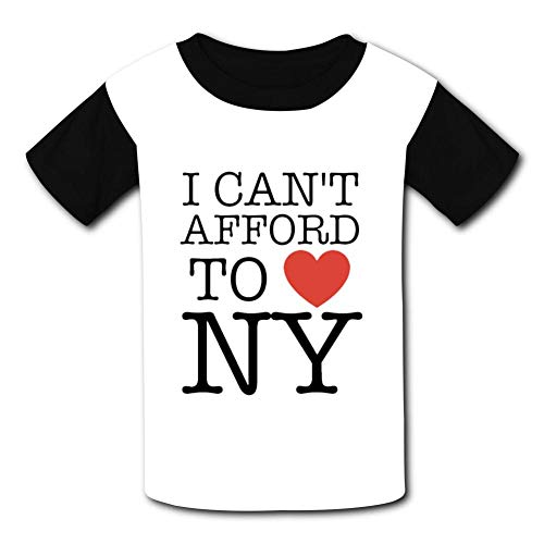 AMODECO I Love NY New York 3D Printed Tee T-Shirt for Youth Teenager Boys Girls
