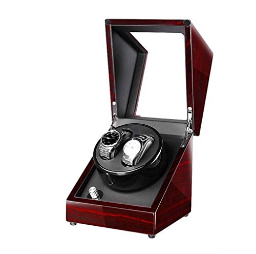WEHQ Relojes Devanadera Automática De Relojes De Madera Unisex, Bobinadora De Piel Sintética con Pintura De Piano, 5 Modos Y Motor Silencioso Super Silencioso Color: