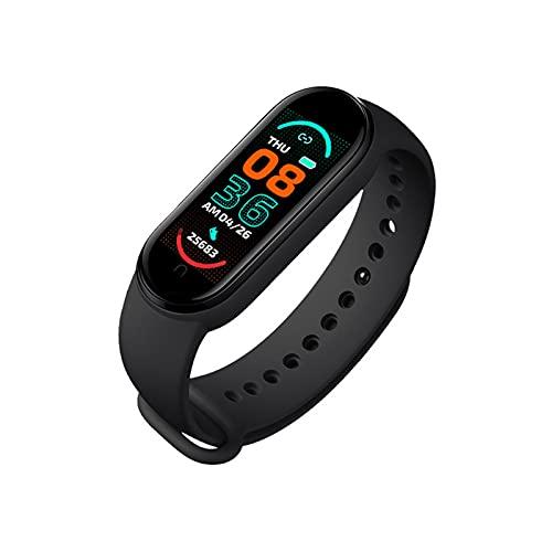 M6 Smart Watch Pulsera para hombres y mujeres, reloj USB, rastreador de actividad física, monitor de presión arterial de frecuencia cardíaca, pantalla a color IP67 impermeable para teléfono móvil