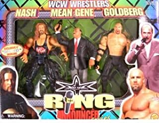 WCW Ring Announcers > Nash Vs Goldberg With Mean Gene Exclusive Action Figures