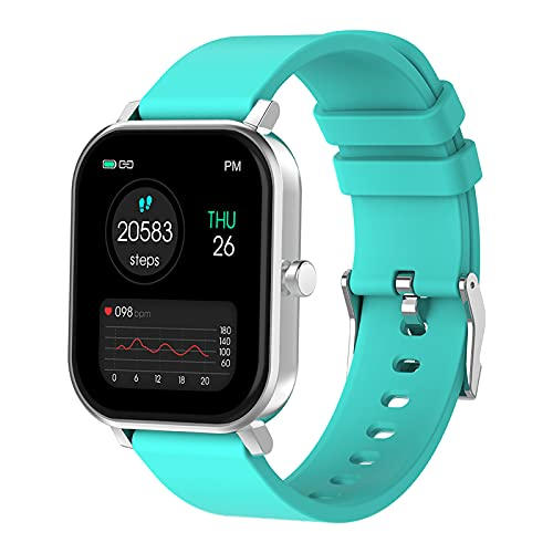 Reloj inteligente ALLCALL S10 de 1,69 pulgadas para hombre, pulsera con rastreador de actividad física, IP68, resistente al agua, reloj inteligente para mujer GTS 2 P8 Plus para IOS y Android (Blue)