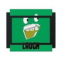 緑の悪い歯残渣笑い デスクトップフォトフレーム画像ブラックは、芸術絵画7 x 9インチ