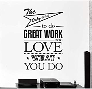 2 Pcs Wall Decall Bureau Devis Art Motivation Décor Autocollants Muraux Citations De Travail Autocollant Mural Chambre Mot...