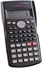 Eaarliyam 2-Line Engineering Scientific Calculator LCD Display Function Student Test Portable Math Calculator for Home School Office - Black