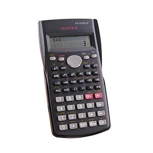 Calculadora científica matemáticas, Pantalla LCD calculadora científica Ingeniería, adecuados para la Escuela y de Negocios, Negro