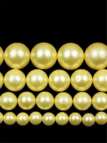 Cuentas de perlas de oro mate natural redondas espaciador de ópalo para hacer joyas DIY mujer collar pulseras 15 pulgadas oro 6mm aproximadamente 63beads