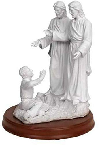 One Moment In Time S10 LDS CTR Statue Joseph Smith First Vision 11' White Marble 3 personages