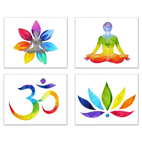 Om/Chakra/Zen/Yoga Powerful Pieces of Photo Art-Set of 4 (Unframed): Peace,Balance, Healing Through Images of Mystical Journeys with Energy to Enlightenment (8'x10')