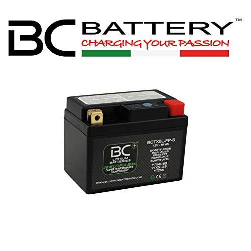 BC Lithium Batteries BCTX5L-FP-S Batería Litio para Moto LiFePO4, Negro, 1