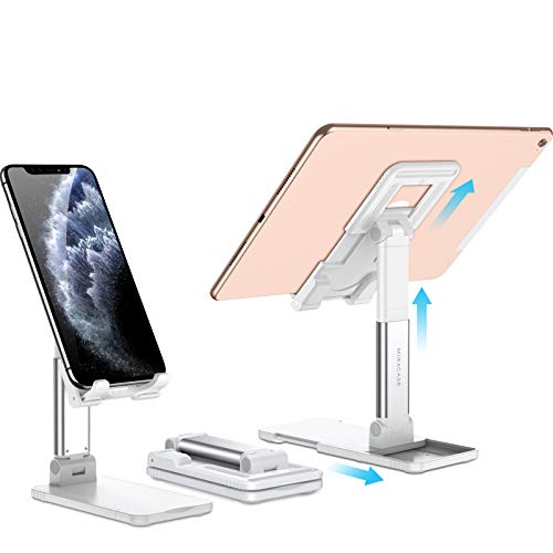 Miracase verstellbare Tablet Halterung faltbare Tablet Stander dual funktion Stander fur HandyTablet universal iPad Halterung Phone Dock Pad Stander kompatibel mit meisten Tablets und alle Handy