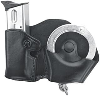 Gould & Goodrich B841-4 Gold Line Cuff And Mag Case With Belt Loops (Black) Fits BERETTA Cougar (all); GLOCK 17, 19, 20, 21, 22, 23, 26, 27, 29, 30, 31, 32, 33, 34, 35, 36, 39; H&K USP 9, .357,.40,.45 (all); KIMBER Polymer; PARA-ORDNANCE P10, P12, P13, P14, P15, P16 (all); S&W Sigma (all EXCEPT .380), SW M&P .45; Springfield XD4, .40, .45, .357