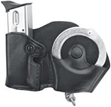 Gould & Goodrich B841-3 Gold Line Handcuff and Double Stacked Mag Case With Belt Loops (Black)