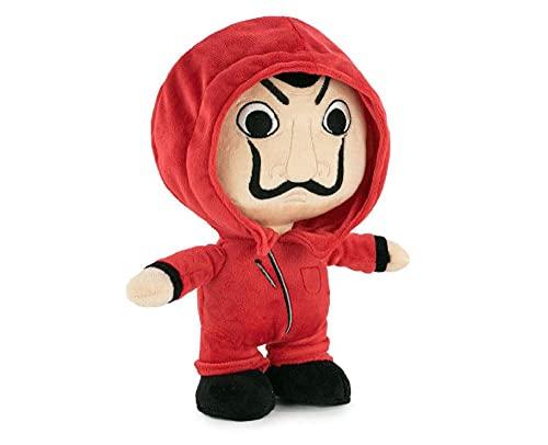 Famosa Softies - Peluche pequeño de 20 centímetros de los personajes de La Casa de Papel, serie oficial de Netflix, con el traje rojo y la máscara de Dalí, suave y blandito, (760020510)