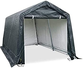 Quictent Heavy Duty Storage Shelter 8 x 8ft Outdoor Carport Shed Car Canopy Grey